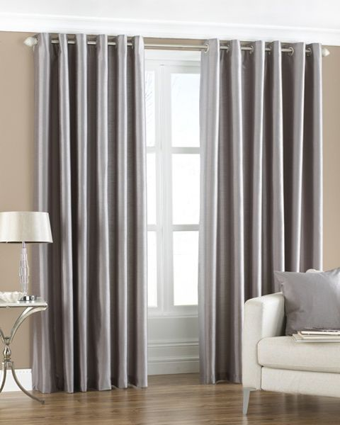 Silver Curtain Living Room Home Decor Ideas Pinterest