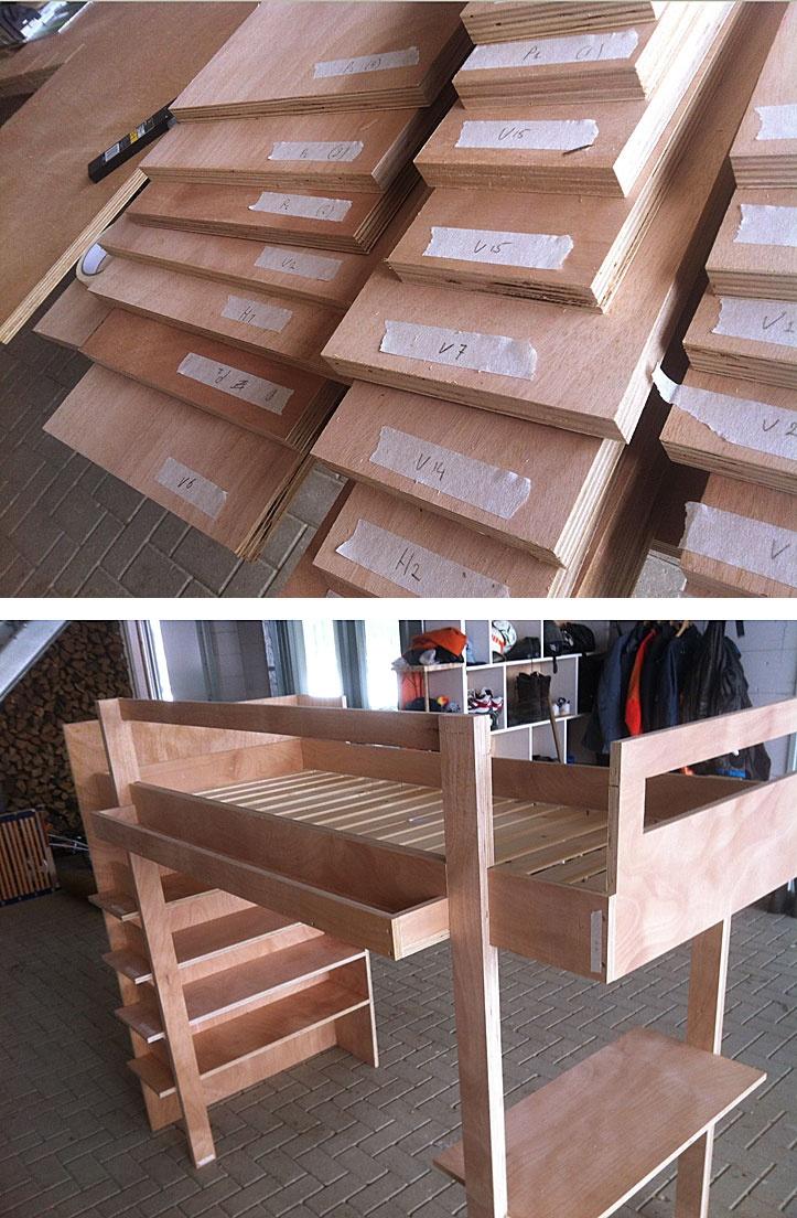 DIY project Loft Bed Ana.  Zelfbouwproject hoogslaper Ana...