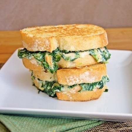 Spinach & Artichoke Grilled Cheese | Cooking | Pinterest