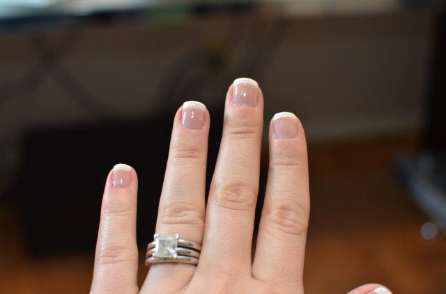 At home gel nail French manicure | Make me purdy | Pinterest