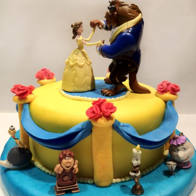 Cake Topper Disney La Bella Y La Bestia : Beauty and the beast cake Food - Cakes for Summer ...