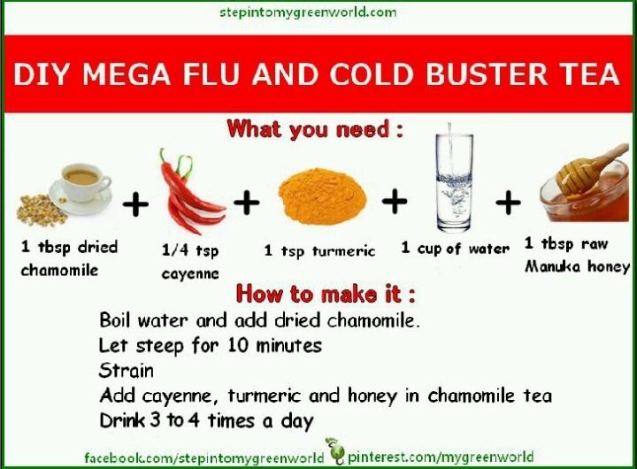 DIY Mega Flu & Cold Buster Tea ⋆ ♀ Mind⋆Body ♂ ⋆ | DIY ...