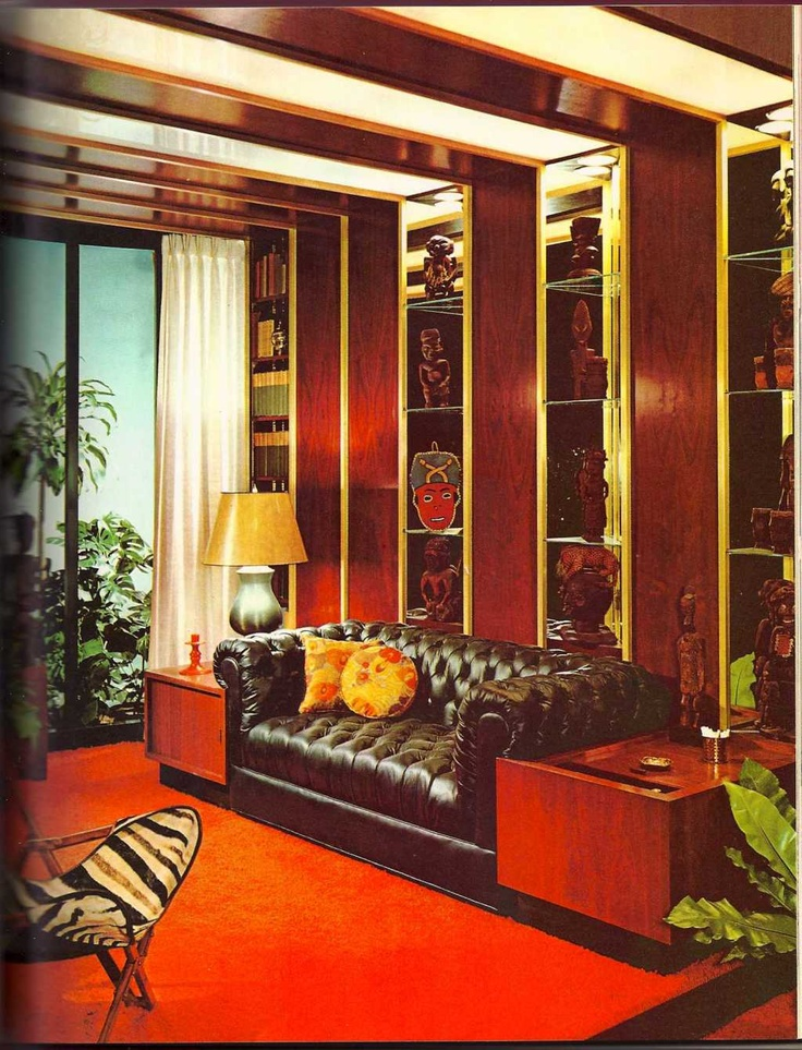 70s interior design art illustration to inspire