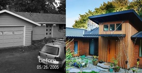 before and after 50s ranch eco renovation