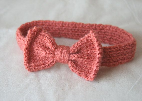 Knitting Pattern For Headband With Bow : Knit Bow Headband Kiddo Fashion and Style Pinterest