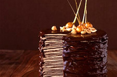 Darkest Chocolate Crepe Cake — Punchfork | Cakes | Pinterest