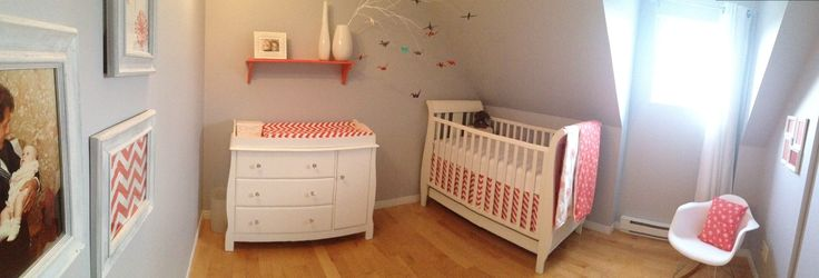 Chambre de bébé griscorail origami  Bebe  Pinterest