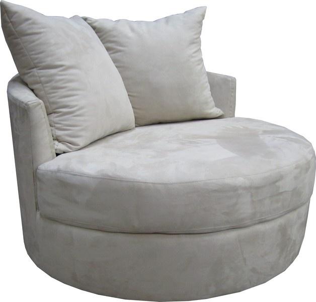 Chair image 7 milo baughman oversized round swivel lounge chair mid