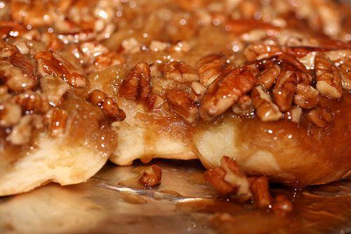 caramel, pecan sticky buns.