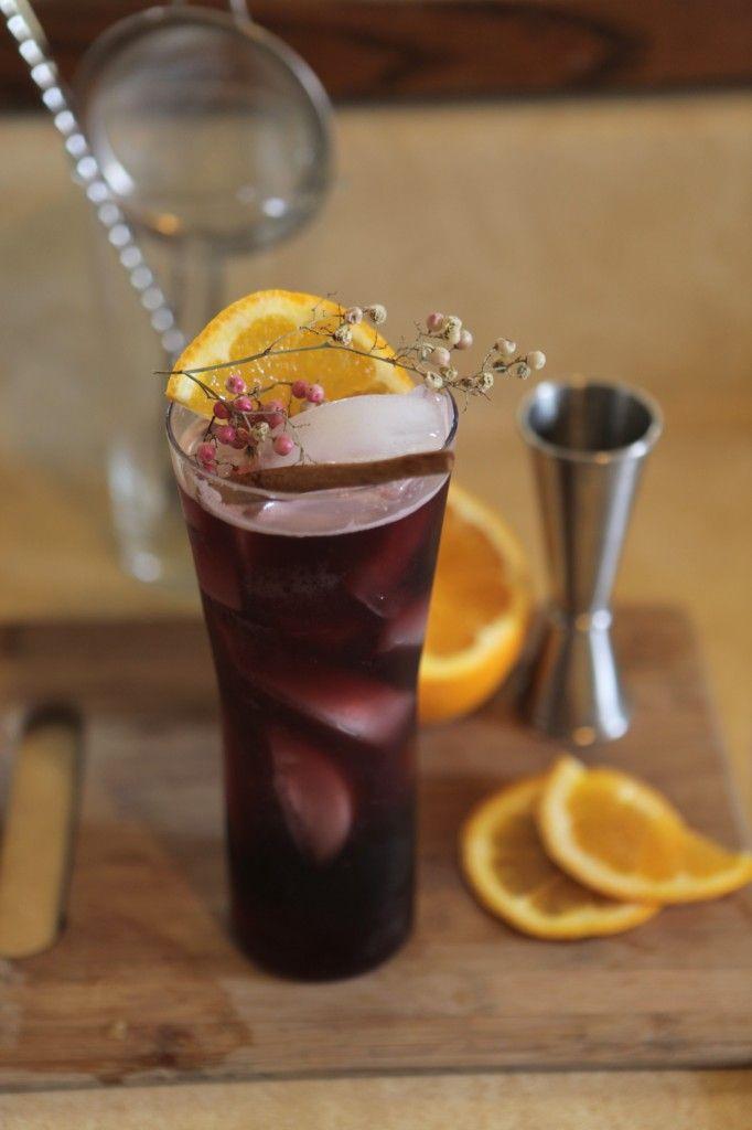 Marrakesh Express: fruity red wine, maraschino liqueur, vodka, simple ...