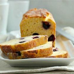 Blueberry-Cornmeal Loaf Cake -- loaded with yogurt and lemon!