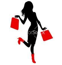 woman shopping silhouette - Google Search