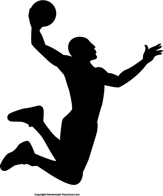 Black and white basketball crowd