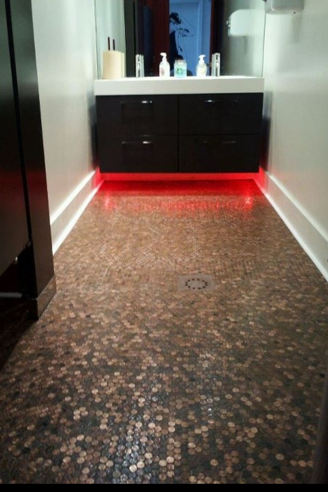 Cool Bathroom Floors at  www.TheRedCadillacNJ.com