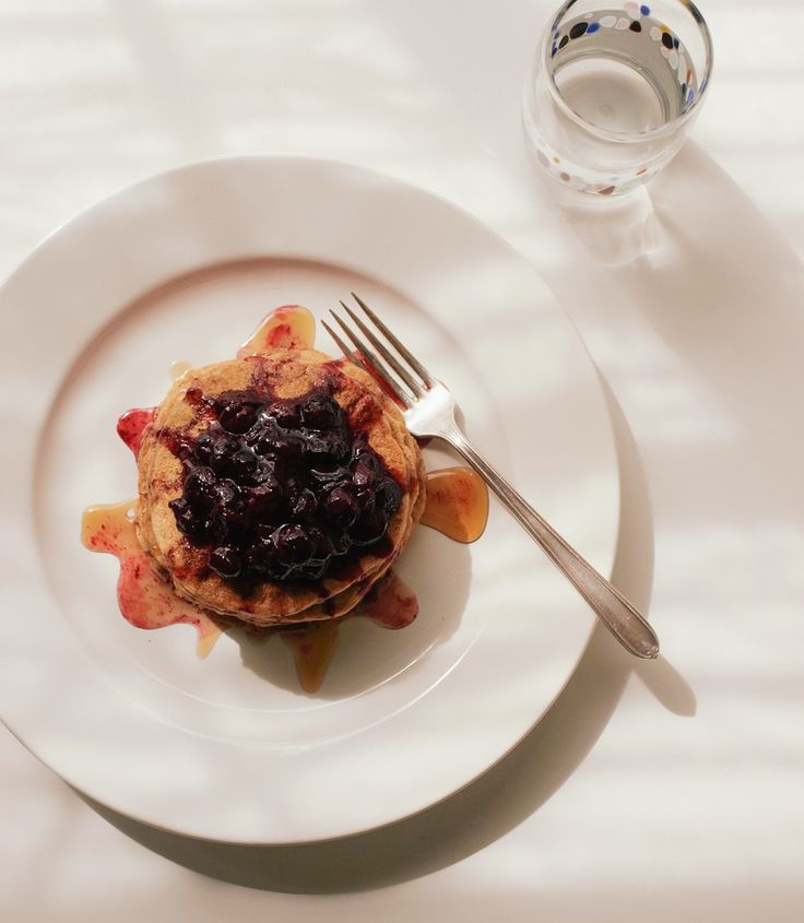 Oatmeal Pancakes With Blueberry Compote Recipes — Dishmaps