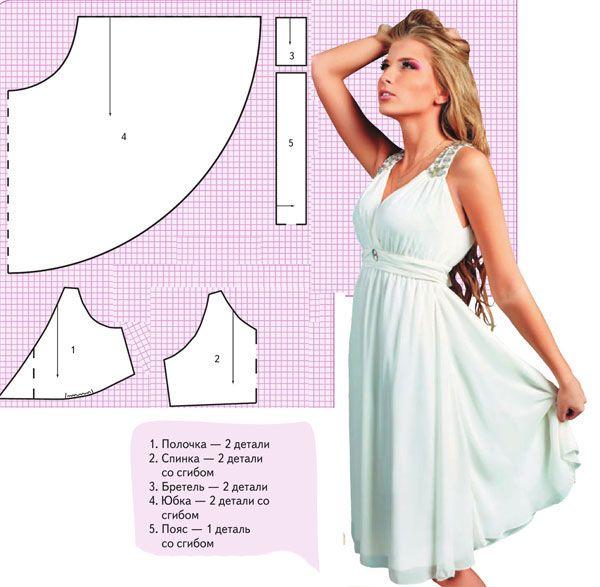 Простой покрой летнего платья