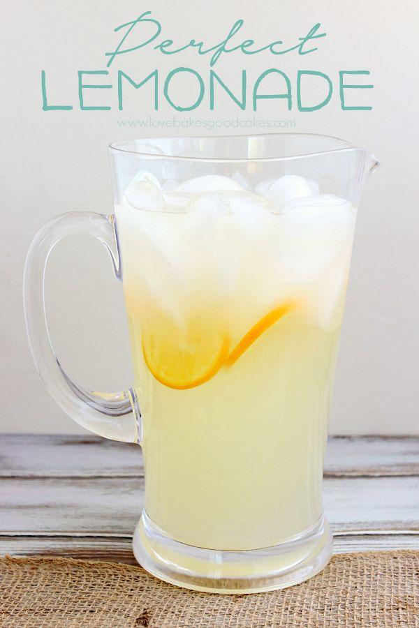 Perfect Lemonade | AllSheCooks.com | #lemonade #summerdrinks # ...