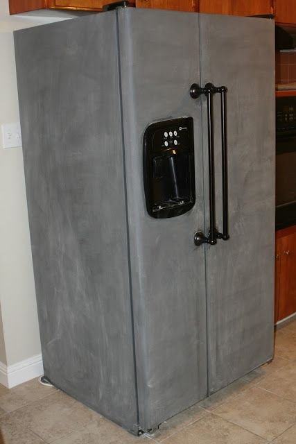 Chalkboard paint refrigerator diy coolness pinterest for Chalkboard appliance paint