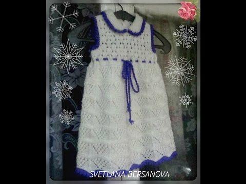 Вязание спицами платья ажурные для девочки