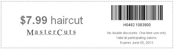 Mastercuts coupons september 2018