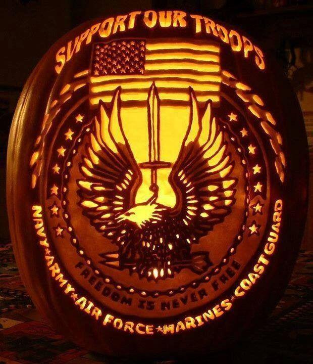 Military Pumpkin Look At The Detail Fall Decorating