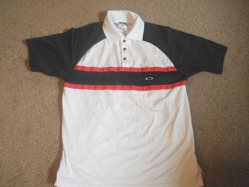 b02c529baa White Oakley Golf Shirt