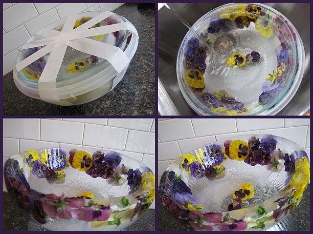 Make a beautiful ice bowl.