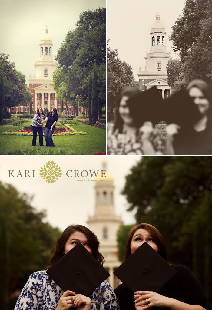 Cute #Baylor graduation photos! // Works for best friends, or in this case, twin sisters! #sicem