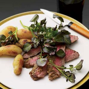 steak with a spicy wasabi-horseradish cream, then serves it with miso ...