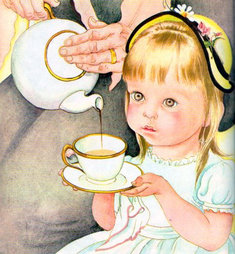 Never too young for tea! (Eloise Wilkin, 1956)