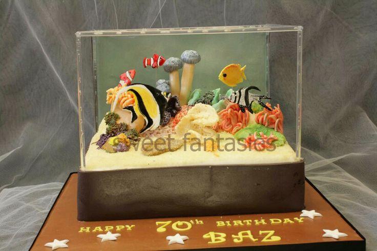 Fish tank cake kid stuff pinterest for Fish tank cake designs