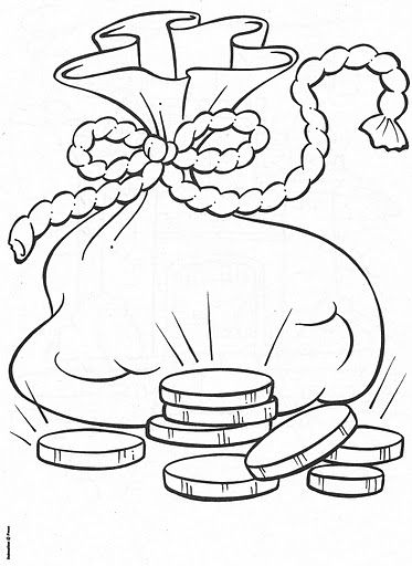 coloring pages silver coins - photo#7
