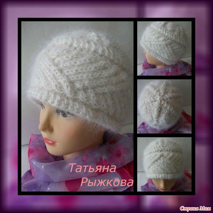 Женские шапки вязание страна мам