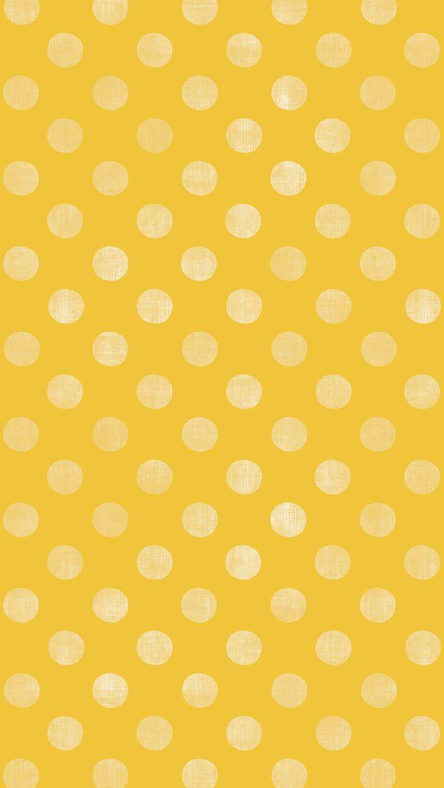 iphone 5 wallpaper - #yellow #polkadot #pattern