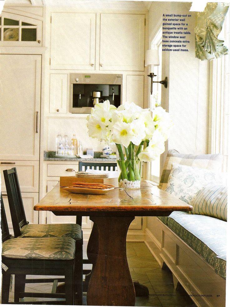 Banquette table client nine kitchen update pinterest - Kitchen banquette with storage ...