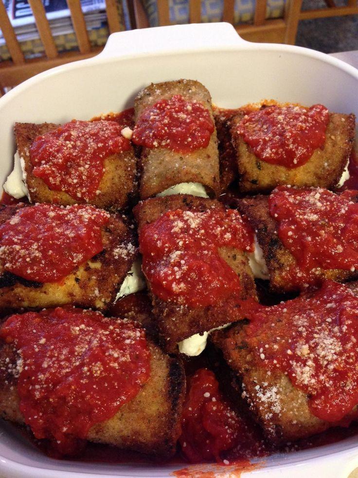 Eggplant Rollatini | Yummy! | Pinterest