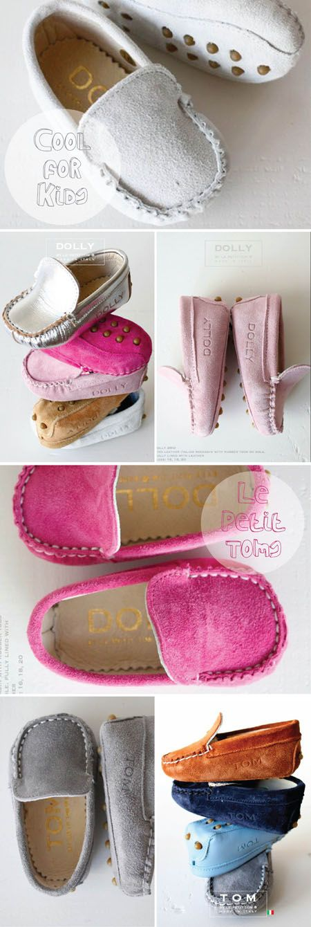 Baby Moccasins by Le Petit Tom...