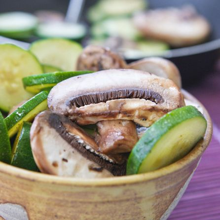 Easy Sautéed Zucchini and Mushrooms from pipandebby.com