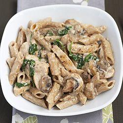 Creamy Chicken Pasta with Mushrooms & Spinach