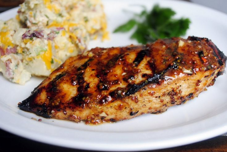 Honey Mustard Grilled Chicken - Took out the mayo and just added extra ...