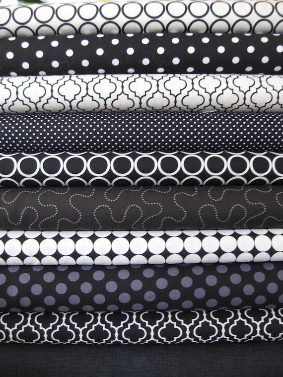Black And White Fat Quarters 28