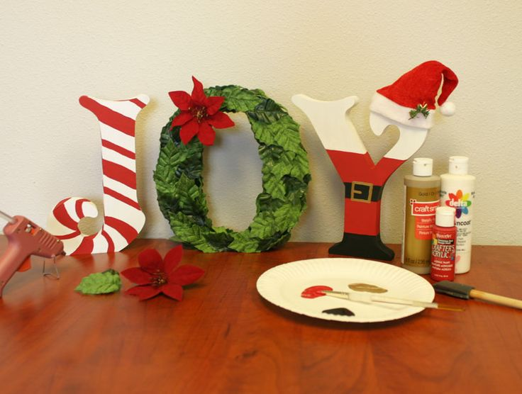 Create Festive Christmas Standing Wood Letters | Craftcuts.com