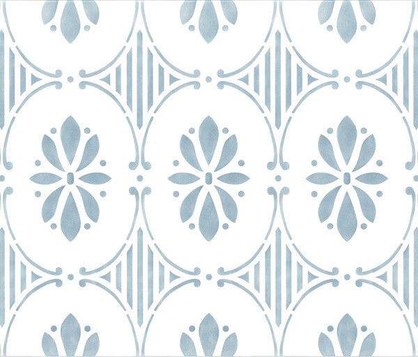 Wall Stencils Royal Design : Swedish floral allover stencil