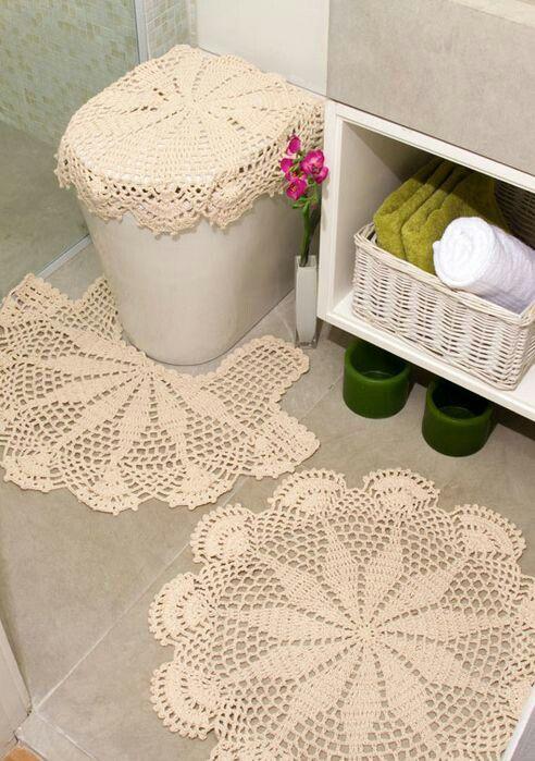 Juegos de baño en crochet  Juegos de baño en foami ...