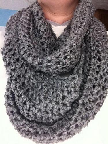 Infinity Scarf Knitting Pattern Ravelry : Crocheted Infinity Scarf - Melissas Knits pattern by ...