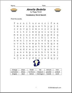 Amelia Bedelia worksheets