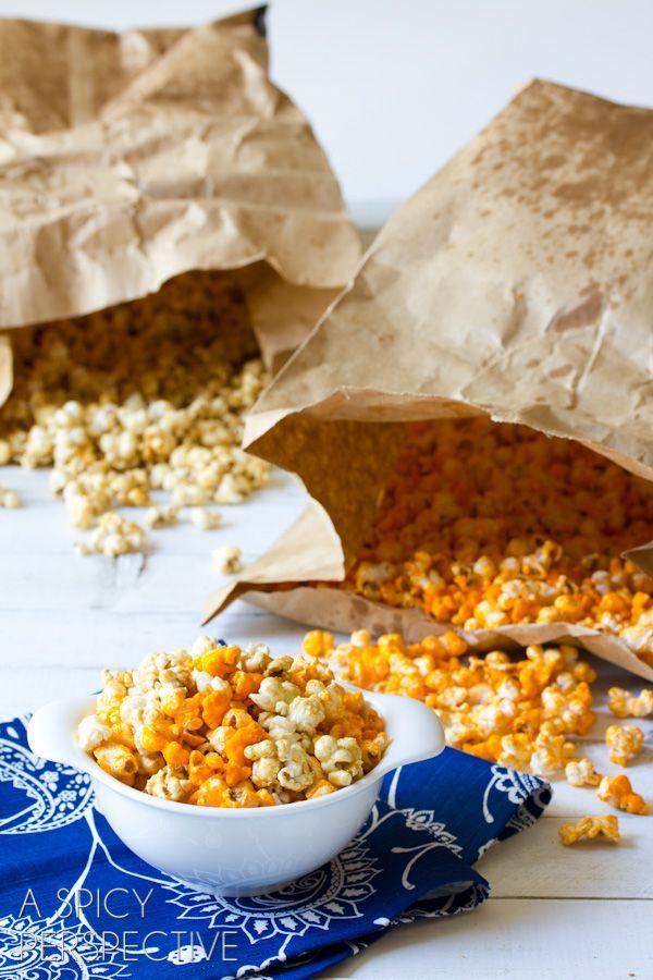 ... spicy cheese caramel popcorn recipe dishmaps spicy cheese caramel