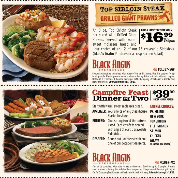 Find the best Texas Steakhouse coupon codes and enjoy $25 sitewide savings, plus get free shipping codes, % genuine coupons and daily deals.