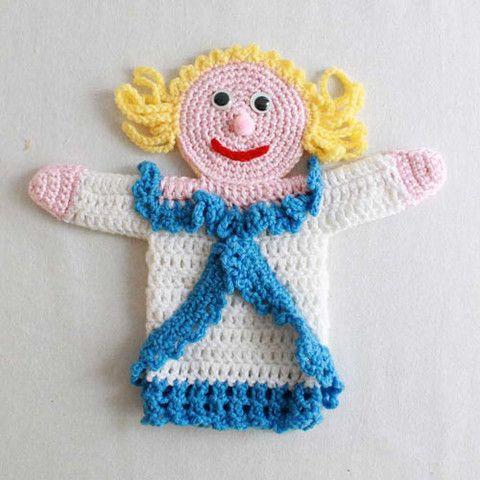 Maggie's Crochet   Storybook Puppets: Cinderella Pattern