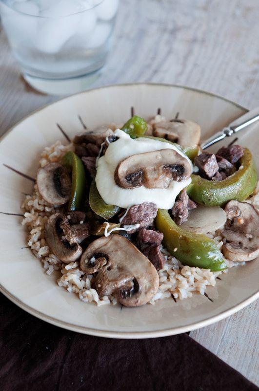 Mushroom Cheesesteak Stir Fry | Mushroom Info
